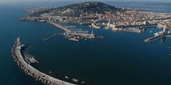 Superbe vue aérienne de Sète confiée par l'Office de Tourisme de Sète (crédits photos: OT Sète)