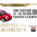 Au Bureau Montpellier annonce son Jeu Noël au Bureau ! avec une voiture et des lots à gagner sur Noelaubureau.fr