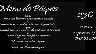 Découvrez le Menu de Pâques du restaurant l'Epicurien à Frontignan à déguster du 30 mars au 2 avril.
