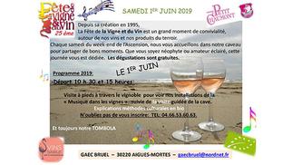 Fête de la Vigne et du Vin le samedi 1er juin 2019 au Domaine du Petit Chaumont
