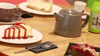 Georges Café Montpellier propose des gâteaux Maison à la carte de son restaurant-salon de thé du centre-ville Rue de la Loge.(® networld-fabrice chort)
