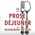 **Jeu Concours** 1 repas à gagner pour 2 d'une valeur de 50 euro au restaurant La Prose Déjeuner Pérols !