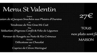 L'Epicurien Frontignan annonce son Menu Saint Valentin avec des plats faits maison.