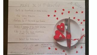 Le restaurant l'Insolite à Mauguio annonce son Menu Saint Valentin.( ® l'insolite)