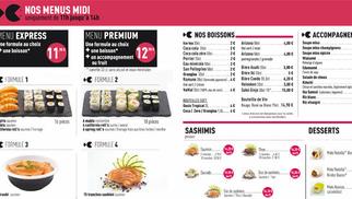 Lady Sushi Saint Gély du Fesc présente sa nouvelle carte plus fournie: sushis à emporter ou à déguster sur place et avec un service de livraison possible selon la zone.
