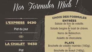 Le Chalet Chamoniard Montpellier présente ses Formules Midi à déguster à Lattes.