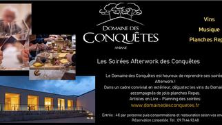 Le Domaine des Conquêtes Aniane rouvre ses soirées Afterwork à partir du 11 juin.