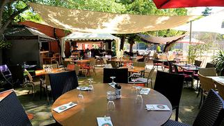 Le restaurant La Jalade Montpellier qui propose une cuisine fait maison a ouvert sa grande terrasse.( ® SAAM-fabrice Chort)