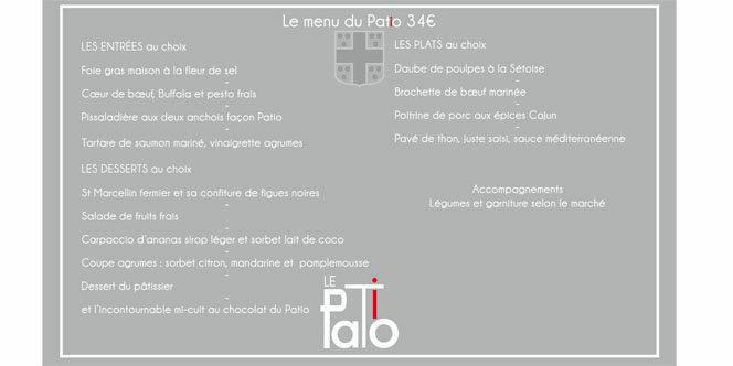Le restaurant le Patio Mauguio présente sa nouvelle carte et son menu Le Patio