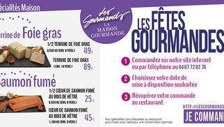 Le restaurant Les Gourmands Montpellier passe en mode Fêtes.