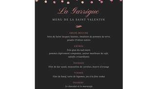 Restaurant La Garrigue Juvignac présente son Menu Saint Valentin à déguster au sein du Quality Hotel Golf Resort de Fontcaude à Juvignac.