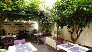 Le Restaurant Les Gourmands Montpellier est de retour avec des tables en terrasse pour les beaux jours.(® SAAM fabrice Chort)
