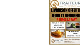 Traiteur Clesne Montpellier offre la livraison le jeudi et vendredi sur la Rouille de Seiche à la Sétoise et l'encornet farci.