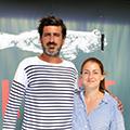Le restaurant Oh Gobie à Sète est géré par Gabriel de Pouzilhac, ici avec la responsable de salle Colline (® SAAM-fabrice CHORT)