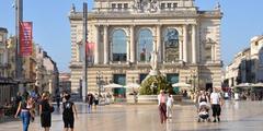 Place de la Comédie au centre-ville de Montpellier (® networld)
