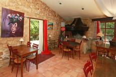 L'Auberge de La Crouzette de Combaillaux et sa salle avec cheminée (® networld-fabrice Chort)