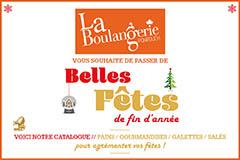 Boulangerie Ponrouch Lattes | Dépliant Fêtes de fin d'année