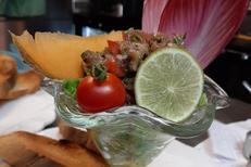 Fleur de Sel Sète est un restaurant de cuisine fait maison en centre-ville. Ici un tartare de thon rouge frais (® fleur de sel)
