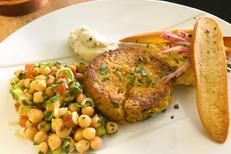 Restaurant L'Art Local Montpellier propose une cuisine fait maison avec produits locaux. Ici un plat autour du pois chiche (® l'art local)