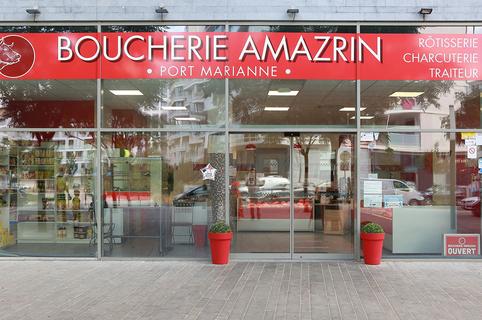 La Boucherie Amazrin vend de la viande halal à Montpellier Port Marianne, propose un service de traiteur, la livraison à domicile et la vente à emporter. (® SAAM fabrice Chort)
