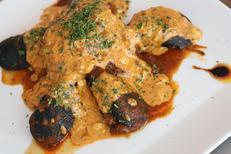 La Cettoise Montpellier Restaurant fait maison qui propose des spécialités sétoises ici des Moules farcies (® SAAM-fabrice Chort)