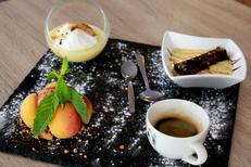 Restaurant La Cettoise Montpellier et sa cuisine fait maison. Ici un café gourmand et ses desserts maison (® SAAM-fabrice Chort)
