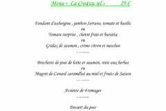 La Croq'au Sel Gallargues Restaurant présente son nouveau Menu Eté
