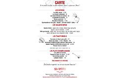 La Prose Déjeuner Pérols | Carte du restaurant