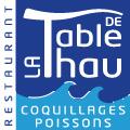 La Table de Thau Bouzigues Restaurant Poissons et fruits de mer vue étang et Sète