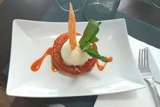 Restaurant La Grande Motte Le Bruit qui court et sa cuisine fait maison avec des produits frais, ici un dessert gourmand (® le bruit qui court)