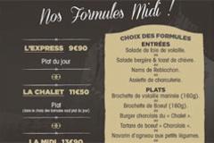 Le Chalet Chamoniard Lattes présente ses Formules Midi