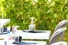 Le Delphis Lattes et sa belle terrasse de restaurant ombragée (® networld-fabrice Chort)