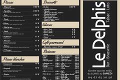 Le Delphis Lattes Restaurant et sa carte