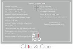Le restaurant Le Patio Mauguio présente ses plats à la carte et son menu