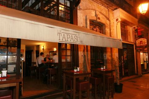 Terrasse du bar à tapas Le Tapas au centre-ville de Montpellier (crédits photos : NetWorld-Fabrice Chort)