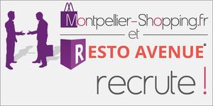 Offre emploi Montpellier Commercial Web pour www.Montpellier-Shopping.fr et www.Resto-Avenue.fr